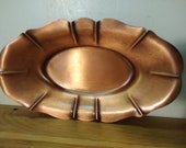 Vintage Copper on Cast Iron Oval Dish