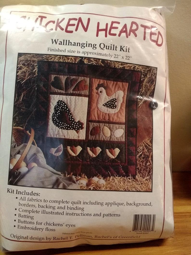 Rachel Pellman Chicken Hearted Wallhanging Quilt Kit