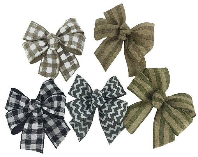 """BOWS and MAGNET *Sign upgrade Extra MEDIUM bows high-grade Magnet to change the bow seasonal and everyday on our 16"""" round signs"""