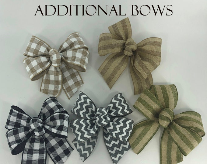 BOWS AND MAGNET *Sign upgrade Extra bows high-grade Magnet  change the bow seasonal and everyday