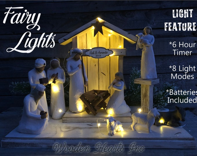 FAIRY Twinkling LIGHTS Ambient LED Battery 6 Hour Timer with 8 Modes Extra Batteries *Nativity Stable Wedding Table Kitchen Tray Centerpiece