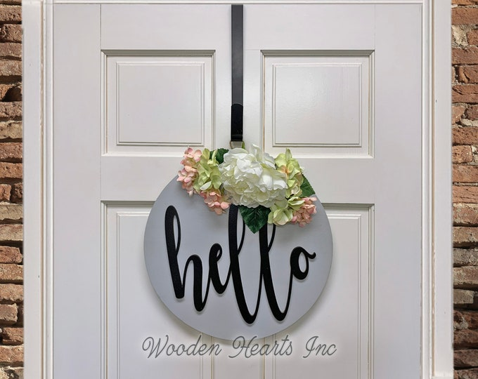 METAL DOOR HANGER, Wreath Holder, Black, 10 5/8 inches, Over the Door Hook (Sign is sold separately)