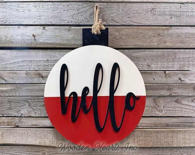 Sign for home Fishing Decor Man BOBBER Welcome Front Door Hanger Cabin Lake River Hello Summer Beach House Wreath Wall Outdoor Retirement