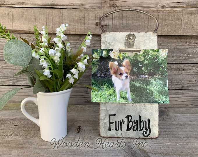 Fur Baby PHOTO HOLDER Metal Antique Cheese Grater with Clip/Clipboard Picture Frame great for 4x6 photos -Vintage Rustic Silver, Memories