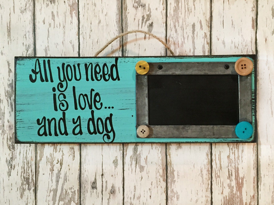 Picture Frame Sign All You Need Love Dog Cat You Had Me At Meow