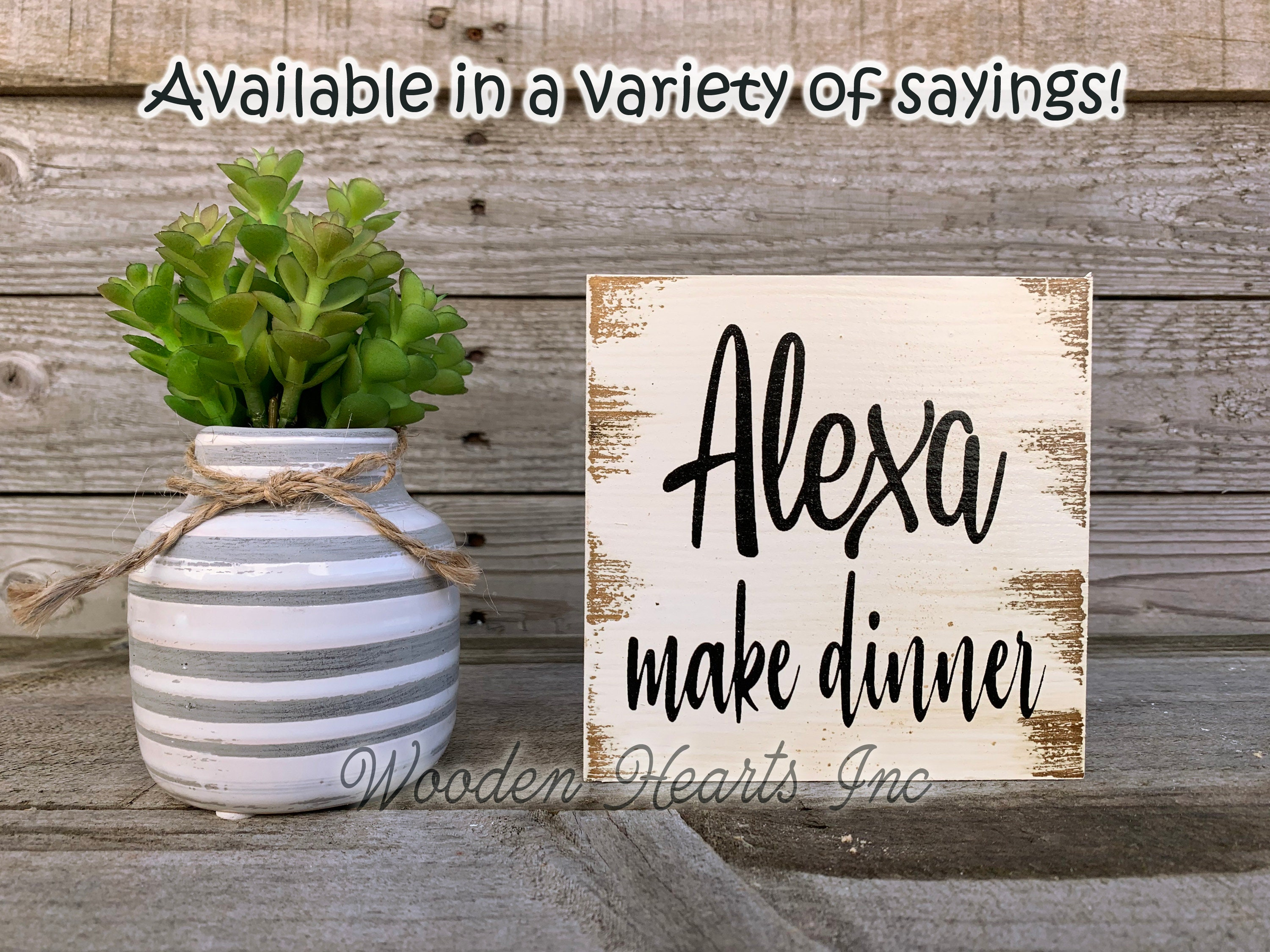 Alexa Do The Dishes 5.5 x 5.5 Farmhouse Sign Kitchen Wall or Shelf Decor Painted Wood Sign Six Colors Housewarming Gift