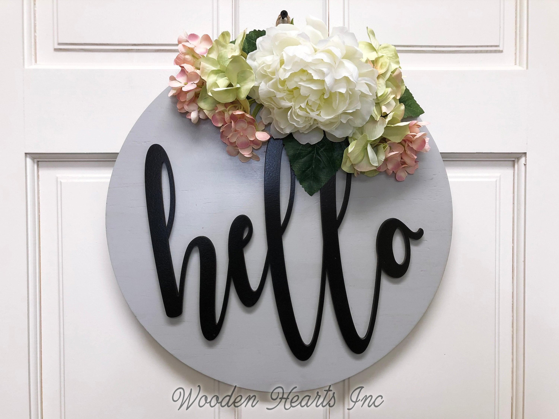 Floral sign Welcome Spring door hanger Flower door hanger Summer door hanger Spring Door hanger Welcome sign Floral door hanger