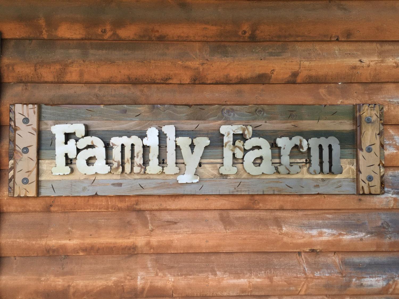 Shop Checkolite International 4 Light Ashfield Rustic: FAMILY FARM Farmhouse Decor Wall Rustic Sign GREEN