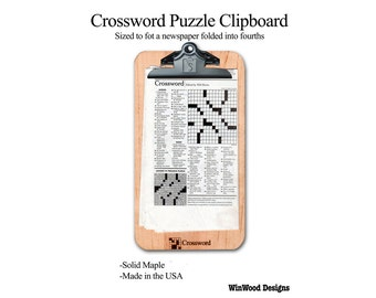 Crossword Puzzle Clipboard, Free Priority Mail
