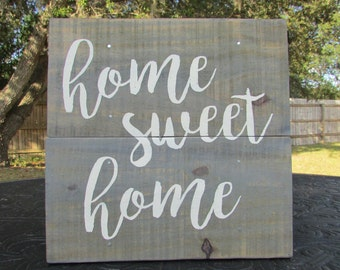 Home Sweet Home sign, Home sweet home decor, rustic wall sign, rustic sign, wood sign, rustic home decor, rustic wall decor, country decor