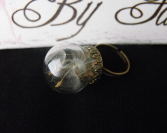 Dandelion Wishes & Fairy Kisses Orb Ring. **Limited availability**