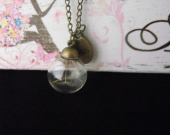 Dandelion Wishes & Fairy Kisses 'WISH' Necklace. **Limited availability**