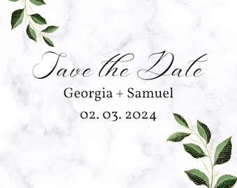 SQUARE Save the Date (14x14 CM)