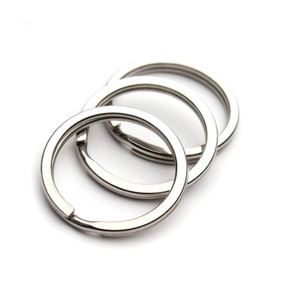 Stainless steel Key Ring Key Chain Round Split keychain Split  6fe670773476