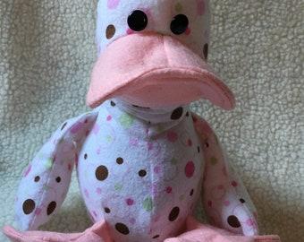 Pink Polkadot Duck