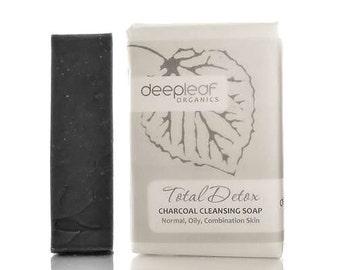 Charcoal Soap, Activated Charcoal Soap, Organic Soap, Tea Tree Soap, Face Cleanser, Bar Soap, Bamboo Charcoal Soap, Vegan Soap, Natural Soap