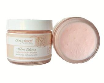Rose Body Butter, Whipped Body Butter, Organic Body Butter, Natural Body Butter, Body Cream, Body Lotion, Dry Skin Moisturizer, Moisturizer