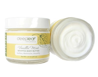 Body Butter, Vanilla Body Butter, Whipped Body Butter, Mint Body Butter, Natural Body Butter, Body Cream, Body Lotion, Organic Body Butter
