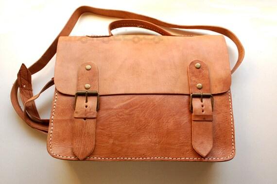 b7de13cdf3cf Vintage Leather Briefcase Messenger Bag Leather Bag