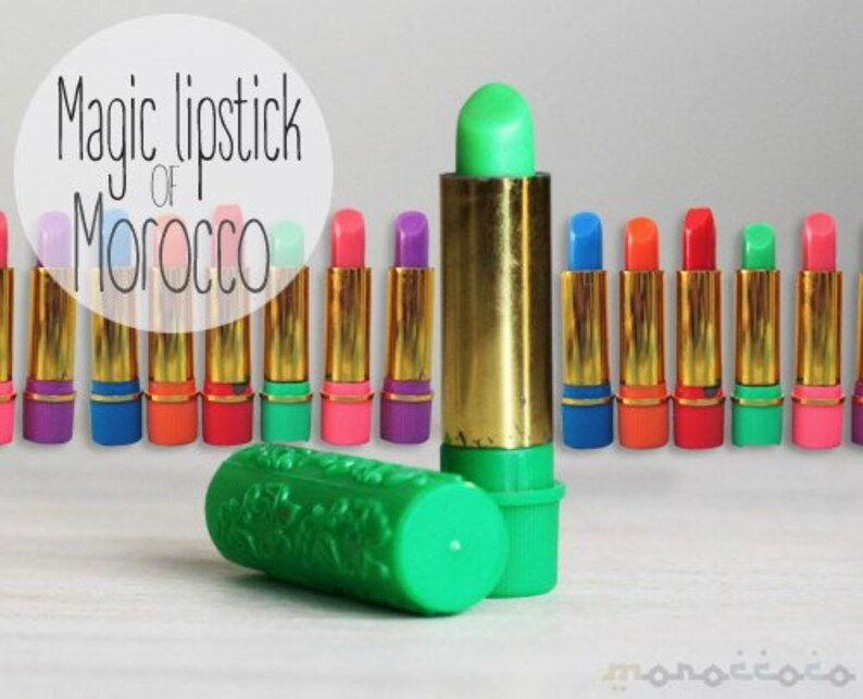 05b48172b3f2 Green Magic Lipstick with Argan Oil and Henna, Vintage Style Morocco,  Lipstick Woman, Summer woman Lipstick, Pink woman Lipstick