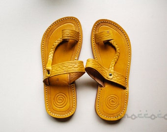 Yellow Sandals, Woman Sandals, Moroccan Sandals, Leather Sandals, Handmade Sandals, Summer shoes, Summer Sandals, Traditional Sandals