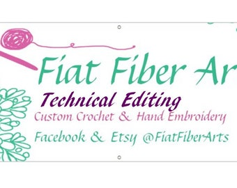 Technical Editing, TE, bulk Tech Edit, Technical Editor services provided for Crochet Patterns