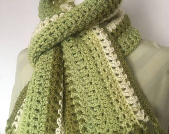 Two Sided Textured Scarf Pattern, Single Caron Cake, Unisex Scarf, Men's scarf.