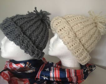 Color Choices. Olympic hat. Chloe Kim hat. USA hat. Chloe Kim Knit Hat. Chloe Kim Beanie. Knit winter hat. Slate. White. Gray.
