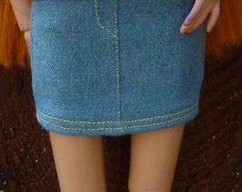 Light Blue Denim Miniskirt for Ellowyne Wilde