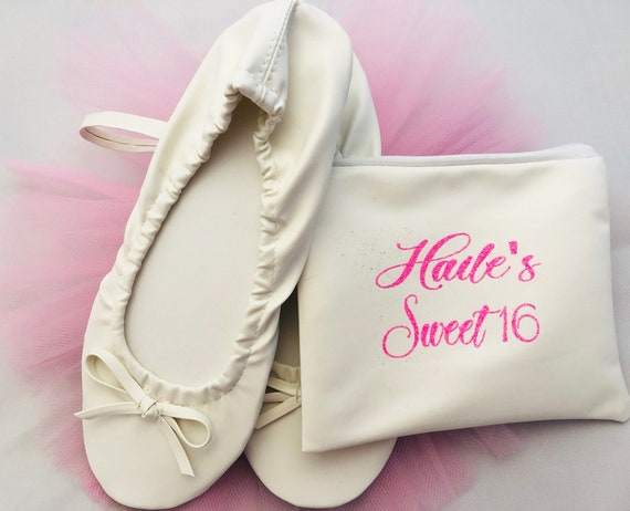 Christmas Gifts, TEACHER gifts, Co Worker Gifts, Bridal Party Gifts Ballet Flats with FREE matching case PERSONALIZED cases at add'l cost