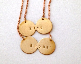 Boobs & Tits Stamped Necklaces