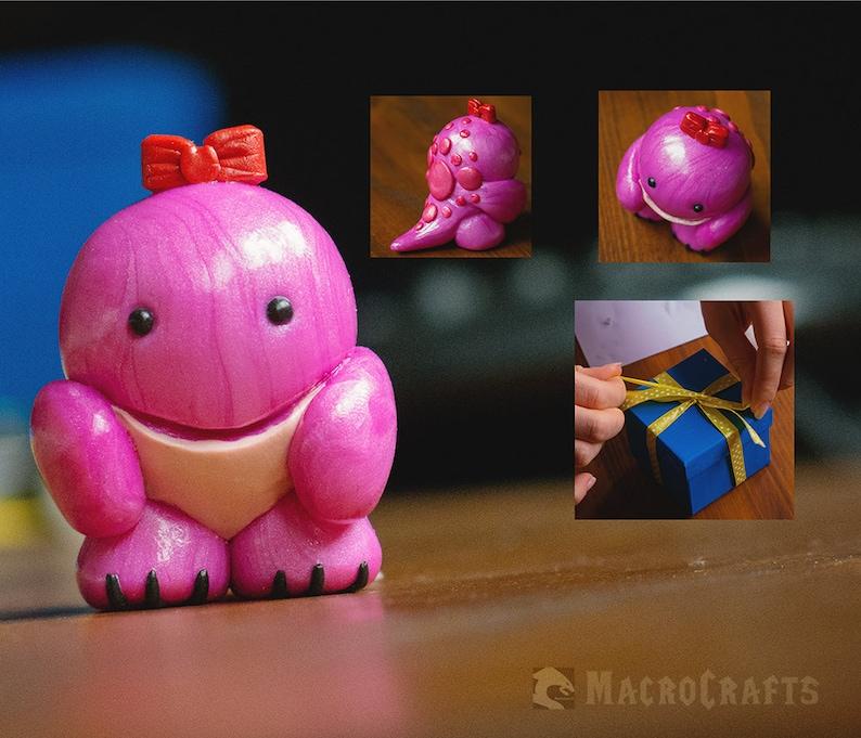 Guild Wars 2 inspired handmade Quaggan lady (pink/glow in the dark)
