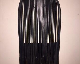 61faf31d68c PINK Costume belt belt long leather fringe belt fringe skirt