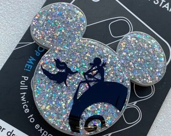 Pondering - Jack & Zero Inspired Glitter Mouse Phone Grip