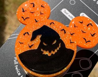 Oogie Boogie Inspired Glitter Mickey Phone Grip