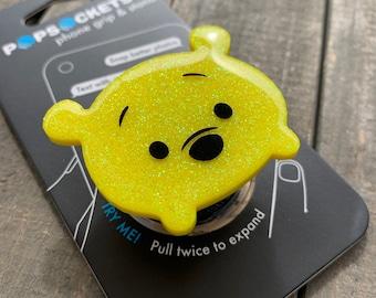Winnie the Pooh Glitter Tsum Tsum Inspired Phone Grip