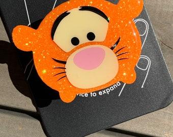 Tigger Tsum Tsum Inspired Glitter Phone Grip