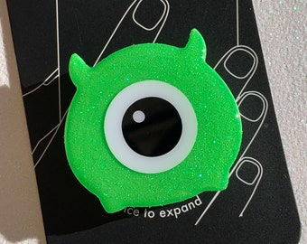Mike Wazowski Tsum Tsum Inspired Glitter Phone Grip