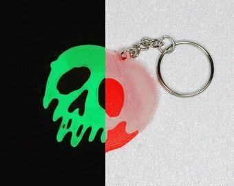 Poison Apple Inspired Glow in the Dark Keychain