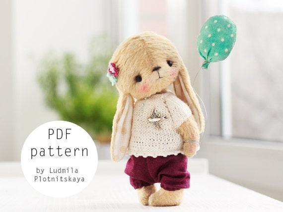 artist cute teddy bunny pattern teddy bear bunny teddy etsy