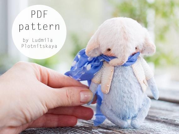 soft toy pattern teddy pattern Artists Miniature Teddy Elephant pattern elephant teddy 4.7 inches teddy bear elephant