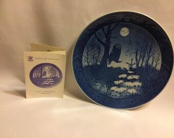 Winter Twilight - Royal Coppenhagen Plate - 1974
