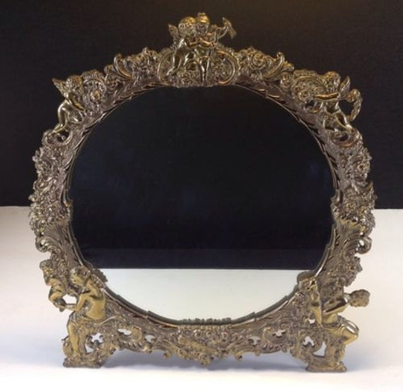 Victorian Ladies Vanity Dressing Table Mirror Circa 1880 Cast Etsy