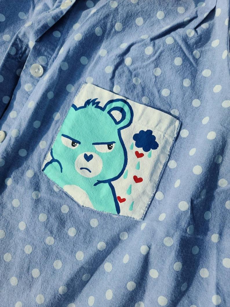 Custom grumpy sleeveless button up