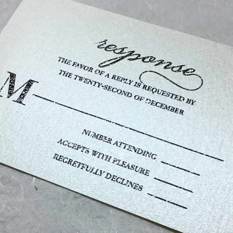 Michelle Gold Wedding Invitations Deposit
