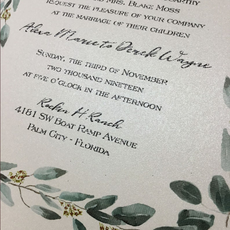 Deposit Modern Bold Wedding Invitations