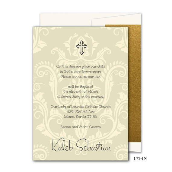 Tarjetas De Invitaciones Religiosas Con La Cruzan Católica Bautismo Comunión Confirmación 171 En