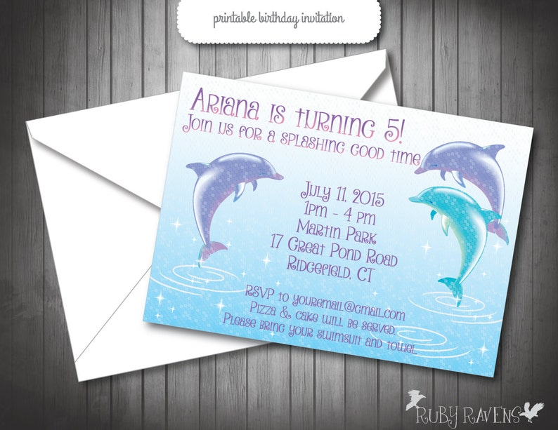 Dolphin Birthday Banner Printable Party