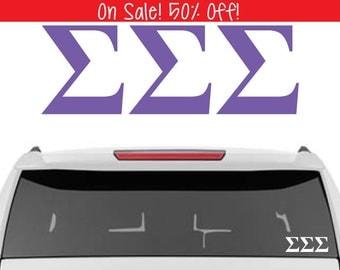 50% OFF!  Sigma Sigma Sigma Decal | Tri Sigma Decal | Sorority Car Decal, Sorority Vinyl Decal, Sorority Laptop Decal, Sorority Decal