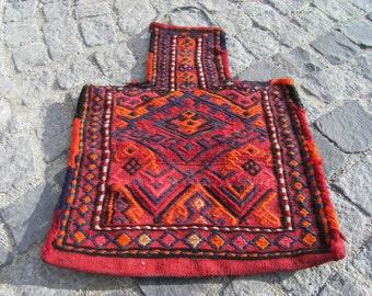 Vintage Old Caucasian Jajem Salt Bag 17,3'' X 23,2'' inches